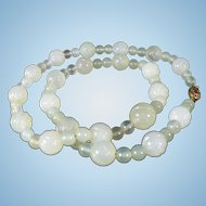 Vintage pale green Jadeite Jade necklace