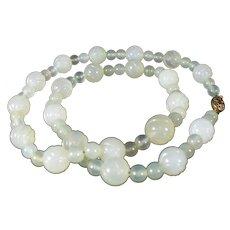 Vintage pale green Jadeite Jade necklace
