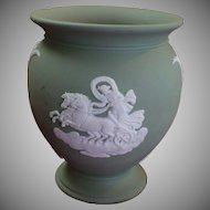 Vintage sage Wedgwood Baluster shaped vase