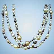 Freshwater cultured Pearl necklace 35 inches