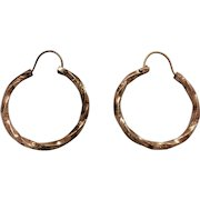 Victorian Hoop earrings in rose rolled gold
