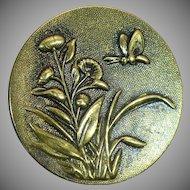 Antique TW&W garden picture button