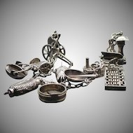 Occupied Japan silver charm bracelet