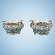 Sterling salt cellar pair  from Birmingham England