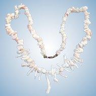 Vintage precious coral branch necklace