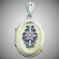 Vintage Victorian style oval ornate locket