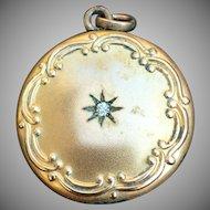Vintage Victorian style locket 1 1/4 inch diameter