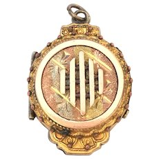 Victorian Rolled gold tri-colored ornate locket