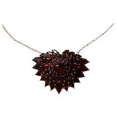 Upcycled Vintage Garnet necklace