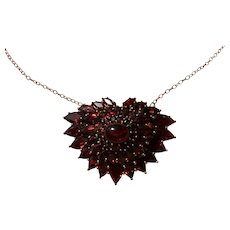 Upcycled Vintage Garnet necklace