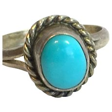 Vintage Kingman Turquoise Sterling ring