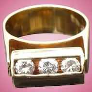 Vintage 14 karat gold .75 ctw diamond moving ring