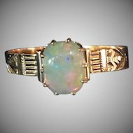 Victorian Opal ring in 14 karat rose gold