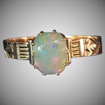 Victorian Opal ring in 14 karat rose gold