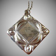 VIntage hand engraved square locket circa 1955
