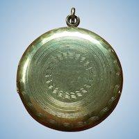 Vintage engraved gold plated locket