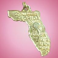 Vintage 14 KT yellow gold Florida charm
