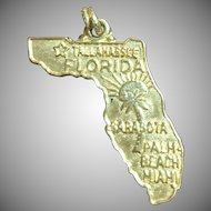 Vintage 14 KT yellow gold Florida charm