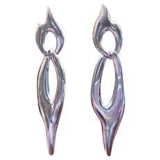 Vintage Sterling 2 part handmade dangle earrings