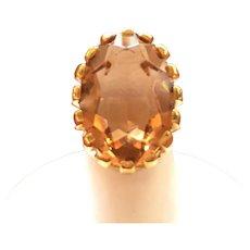 D'Orlan faux precious Topaz ring