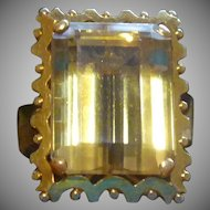 13.75 ct Citrine ring in 18 karat gold circa 1955