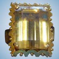 13.75 ct Citrine ring in 18 karat gold circa 1955