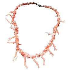 Vintage 16 inch Hawaiian coral branch necklace