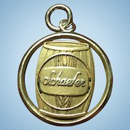 Vintage Schaefer beer 5 year employee charm in 14 kt gold