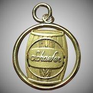 Vintage Schaefer beer 5 year employee charm in 14 kt gold