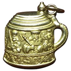 Vintage 14kt gold beer stein with Burgermeisters' charm from Schaefer beer