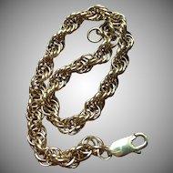 Vintage 14 kt gold 7.5 inch charm bracelet