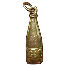 Vintage classic Schaefer beer bottle charm in 10 kt