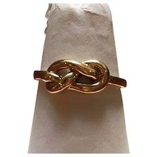 Vintage 10 kt TRUBRITE love knot ring