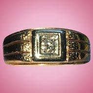 Vintage classic Gents diamond ring 14 kt