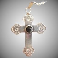 Vintage Sterling cross and chain