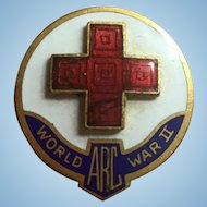 American red cross pin WWII