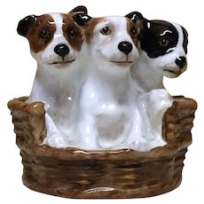 Royal Doulton A basket of puppies HN 2588
