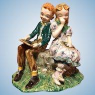 "Gort ""Tom and Becky"" figurine 1947"