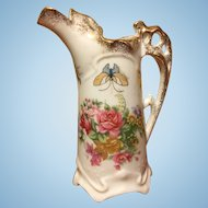 Vintage Crown Royal hand painted pitcher