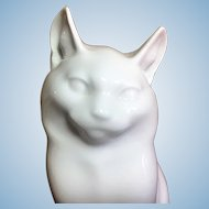 Royal Copenhagen White cat figurine