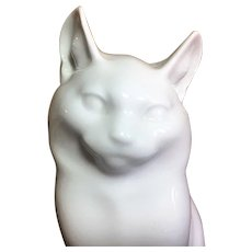 Royal Copenhagen White cat figurine