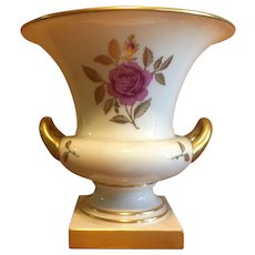 Lenox Bone china vase with gold gilding and a rose