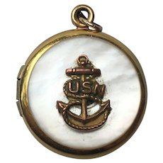Vintage Navy sweet heart locket