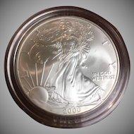 American Eagle silver dollar year 2000, uncirculated