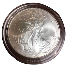 American Eagle silver dollar year 2000, uncirculated