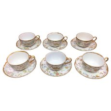 Six matching  Hutschenreuther Selb teacups and saucers