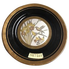 Chokin 6.25 inch decorative plate