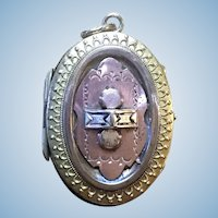 Victorian rolled gold and rose gold color locket