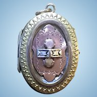 Victorian rolled gold in both gold and rose color locket
