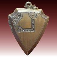 Vintage Art Deco Shield shaped locket